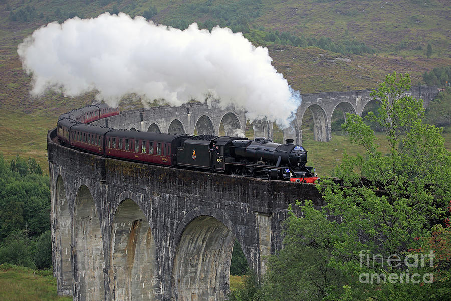 The Jacobite Steam Train by Maria Gaellman