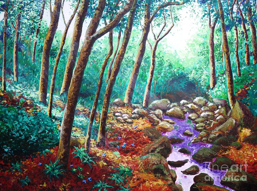 Landscape Painting - The Jade Vine Story by Paul Hilario