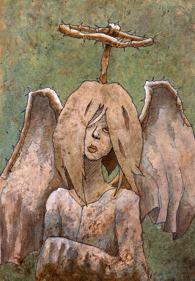 Angel Painting - The Jaded Angel by Ethan Harris