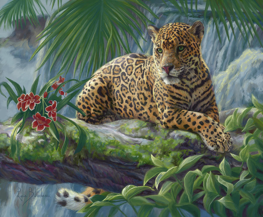 Jaguar Painting - The Jaguar by Lucie Bilodeau