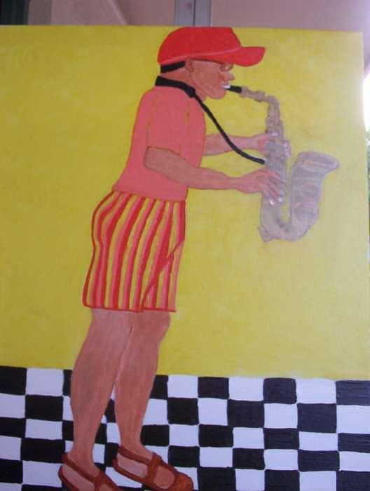 The Jazz Man Painting by Velda Jenkins