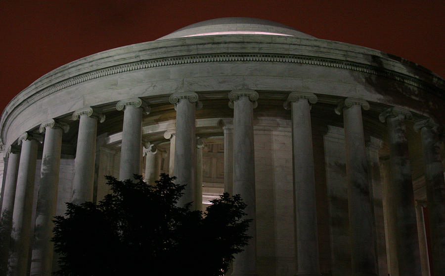 Washington D.c Photograph - The Jefferson Memorial At Night by Brian M Lumley