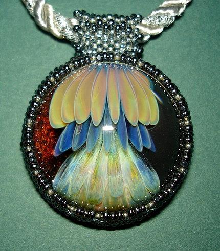Glass Jewelry - The Jelly Fish by Jamie Mount