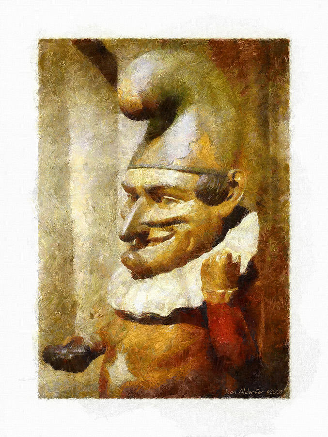 Digital Photograph - The Jester by Ron Alderfer