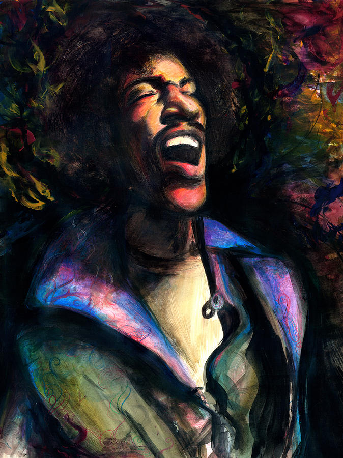 The Jimi Painting by Kinetik  Studio