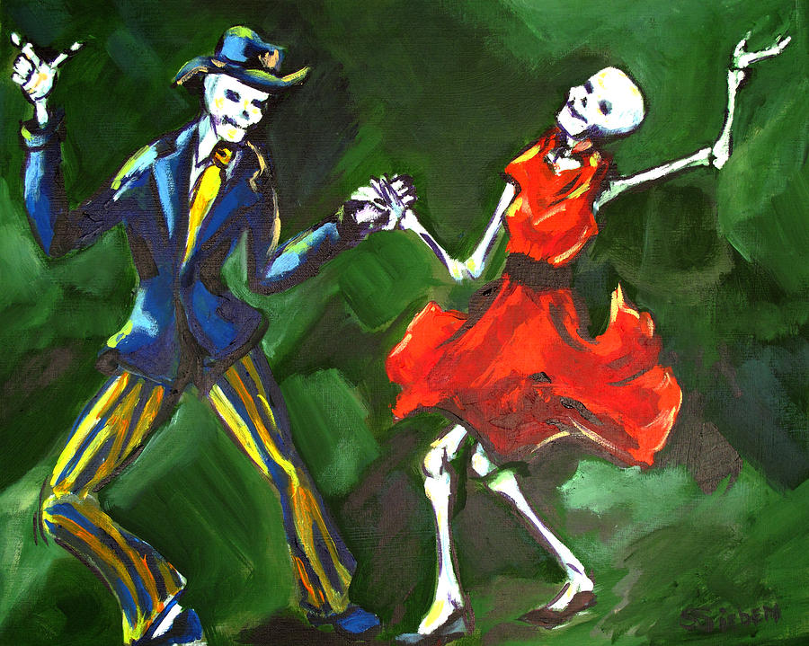 Day Of The Dead Painting - The Jive by Sharon Sieben