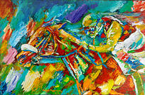 The Jockey Painting by Ralph  Megginson III