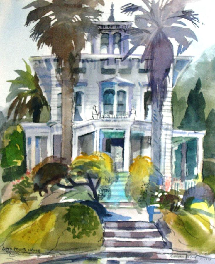 The John Muir House Painting by Naomi E Heid