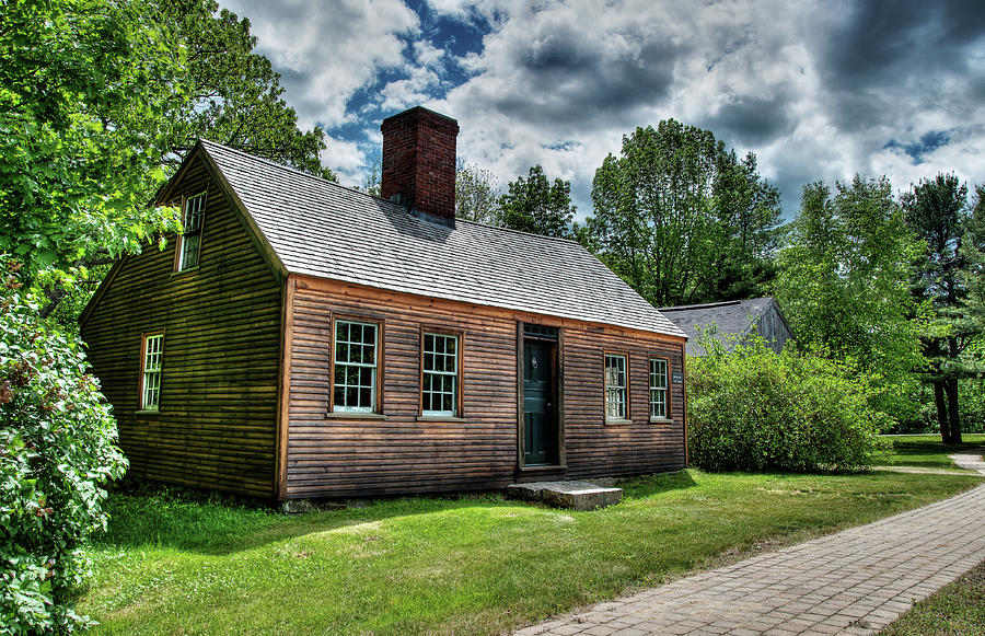 Colonial Photograph - The John Wells House In Wells Maine by Wayne Marshall Chase