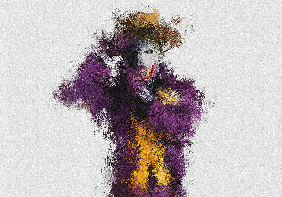 Joker Painting - The Joker by Miranda Sether