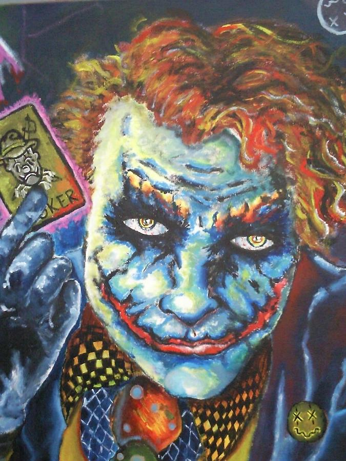 Heath Ledger Painting - The Joker Tribute by Travis  Ko