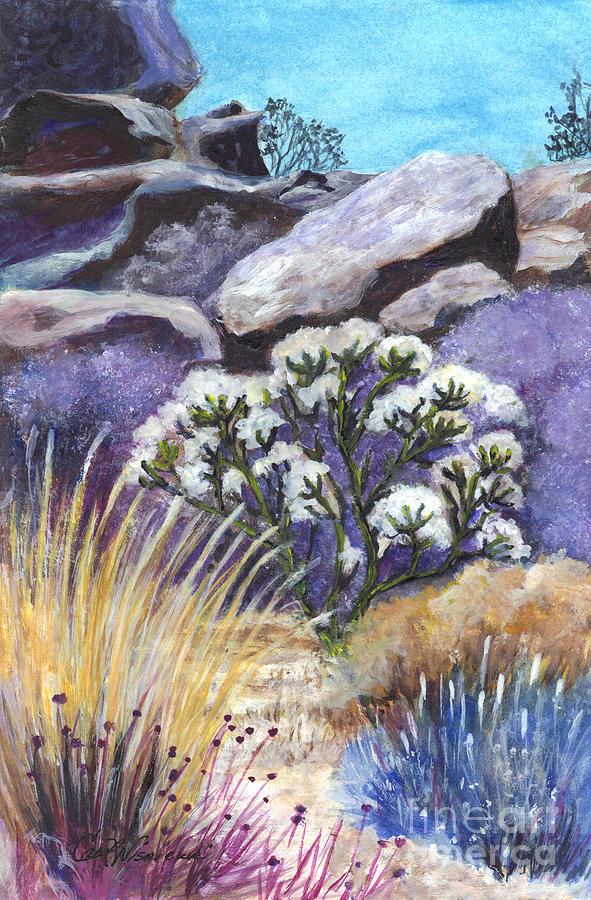 Desert Painting - The Joshua Tree by Carol Wisniewski