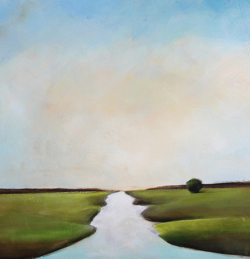 River Painting - The Journey by Toni Grote