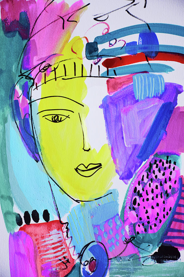 Painting Painting - The Joy Of Contemplation And Color by Amara Dacer