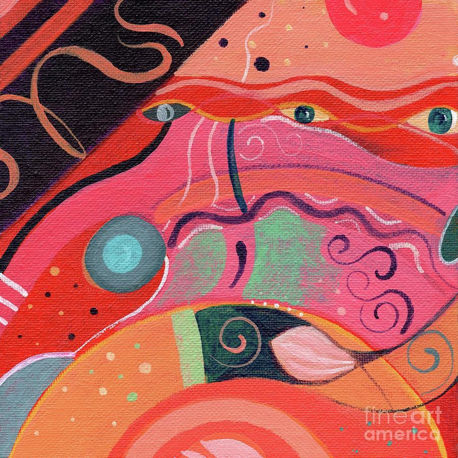 Orange Painting - The Joy Of Design X L V I I I Part 2 by Helena Tiainen