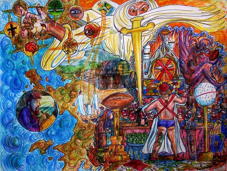 God Drawing - The Joy Of Football Feces by Richard  Hubal