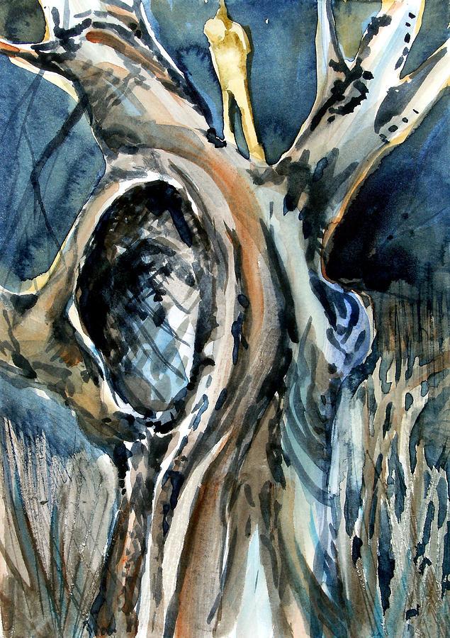 Judas Painting - The Judas Tree by Mindy Newman