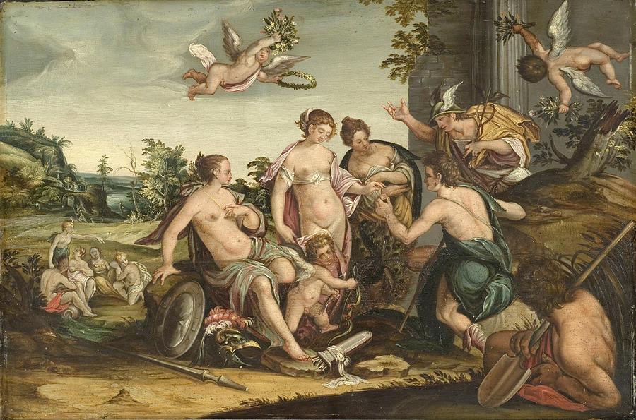 Hans Von Aachen Painting - The Judgement Of Paris by Hans von Aachen