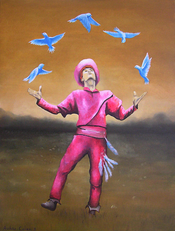 Man Painting - The Juggler by Avihai Cohen