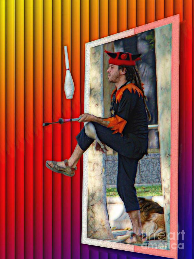 Surrealism Digital Art - The Juggler by Sue Melvin