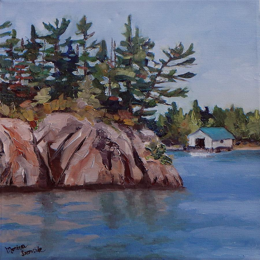 Landscape Painting - The Jumping Rock by Monica Ironside