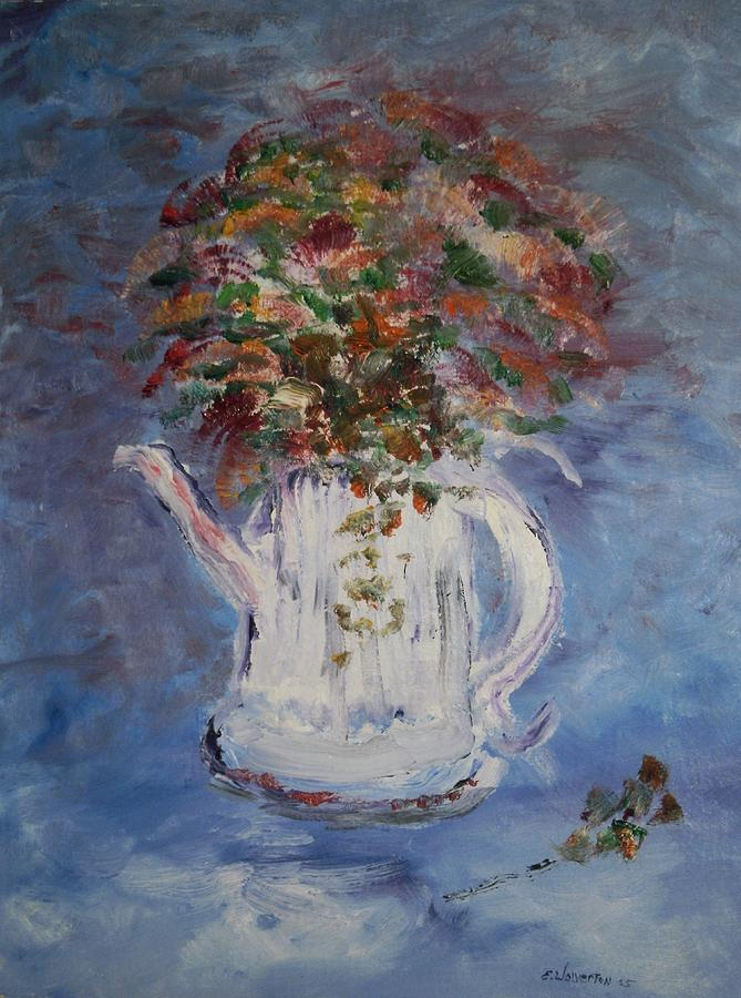 Still Life Painting - The Kettle Vase by Edward Wolverton