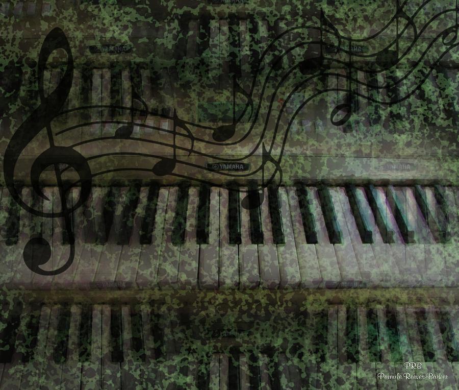 Keyboard Mixed Media - The Keyboard by Pamula Reeves-Barker