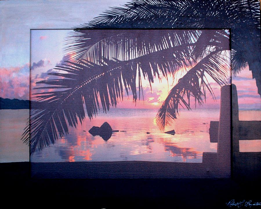 Keys Mixed Media - The Keys At Sunset by Robert Boynton