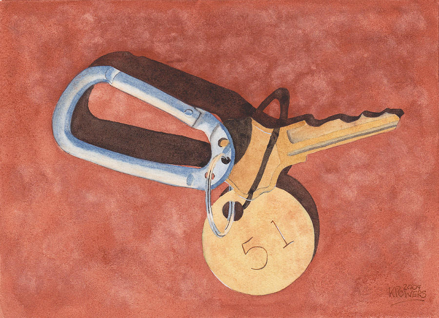 Key Painting - The Keys To Area 51 by Ken Powers