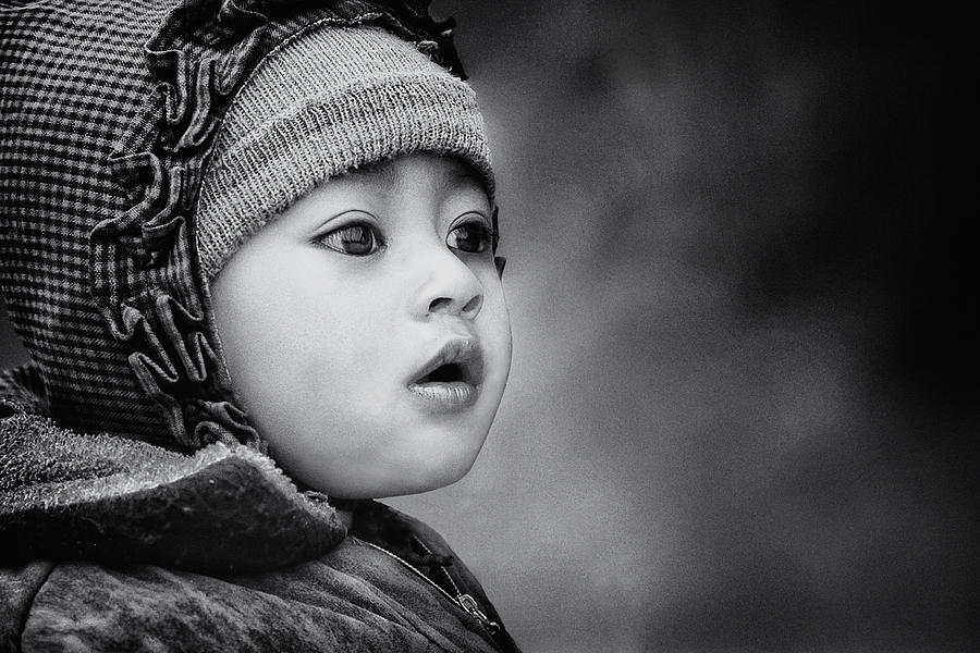 Kid Photograph - The Kid From Sarangkot by Piet Flour