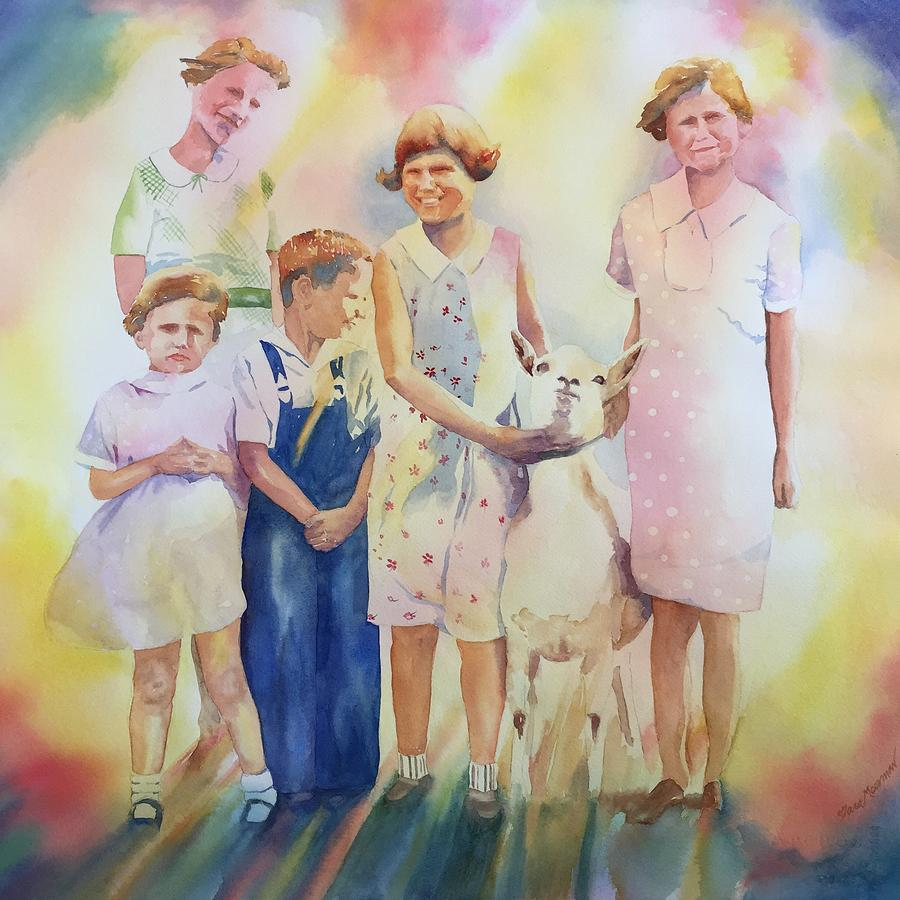 The Kids And The Kid Painting by Tara Moorman