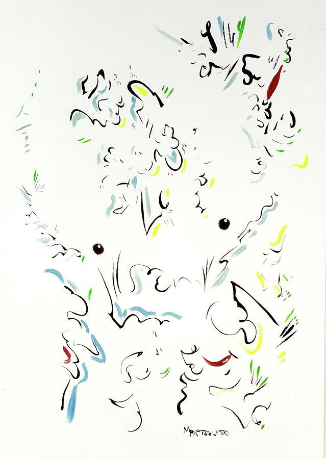 Minotaur Drawing - The Kindly Minotaur by Dave Martsolf