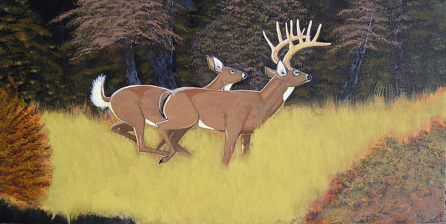 Deer Painting - The King And Queen by Dalton Shiflet