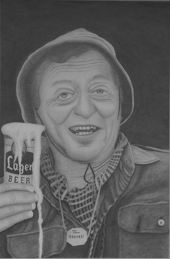 Portrait Drawing - The King by Brian Leverton