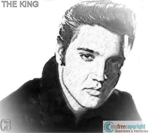 The King Painting by Cece Bazel