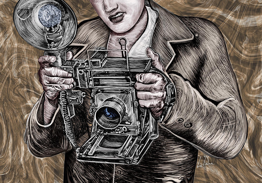 View Camera Painting - The King of Cameras by Doug LaRue