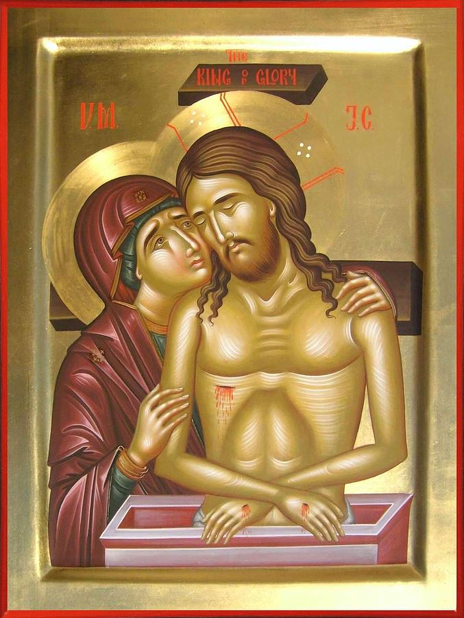 Pieta Painting - The King Of Glory by Daniel Neculae