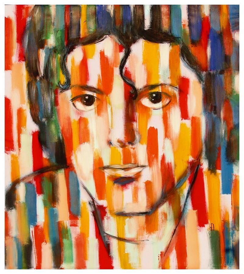 Michael Jackson Painting - the king of pop Michael Jackson by Habib Ayat