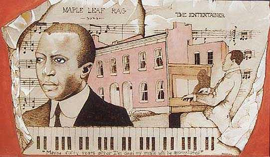 Scott Joplin Mixed Media - The King of Ragtime by William Burton Jr