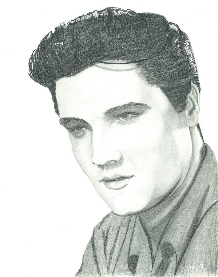 Elvis Drawing - The King by Seventh Son