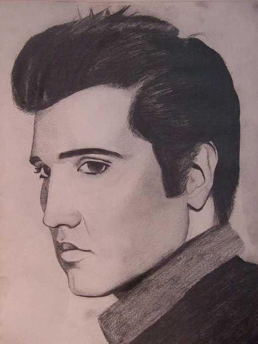 Elvis Drawing - The King by William Parsons