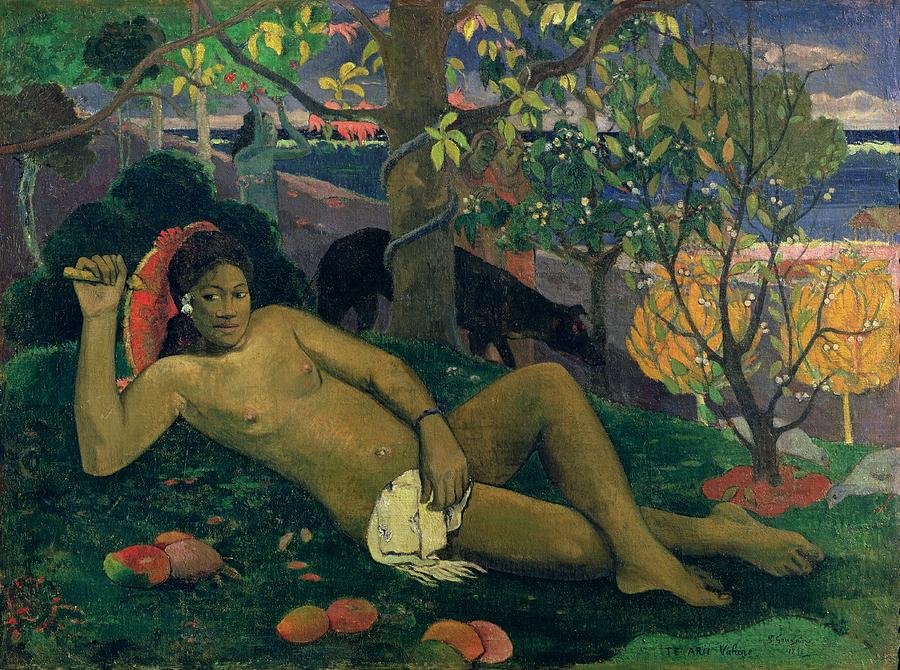 Arii Painting - The Kings Wife by Paul Gauguin