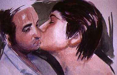 The Kiss Painting by Katalin Papp