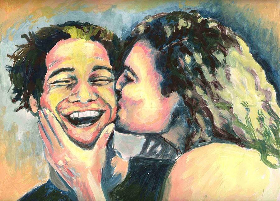 Man Painting - The Kiss by Nicole Zeug