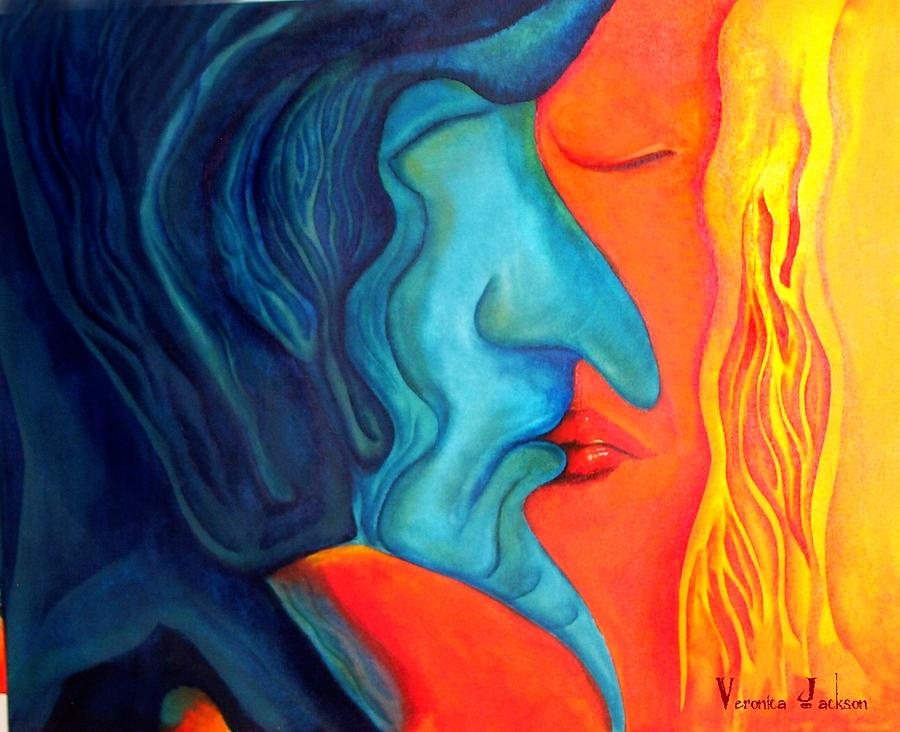 The Kiss Painting by Veronica Jackson