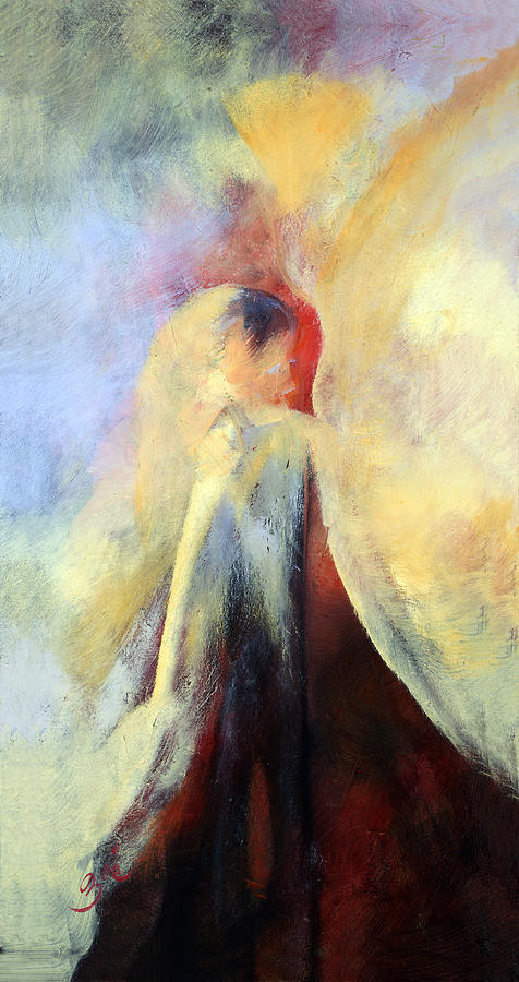 Abstract Painting - The Kiss by Zoe Landria