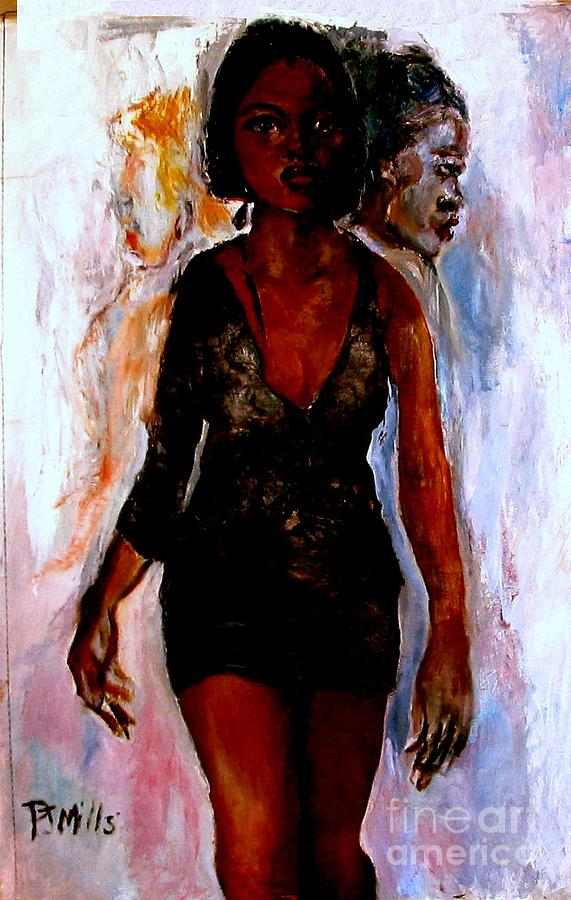 Figures Painting - The Kitty Kat Walks by Patrick Mills