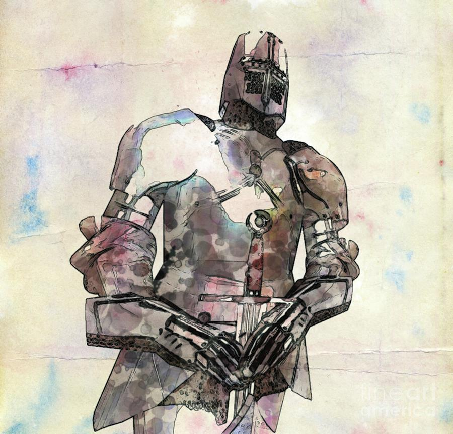 The Knight Pop Art By Mary Bassett Painting