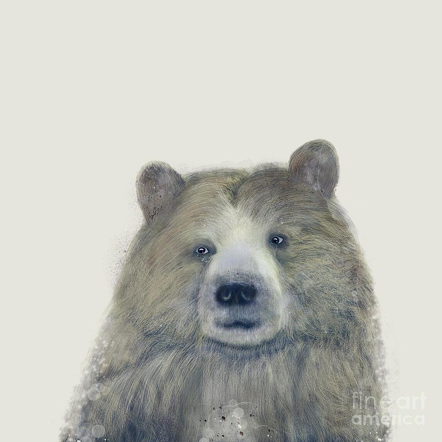 Alaskan Brown Bear Painting - The Kodiak Bear by Bri Buckley