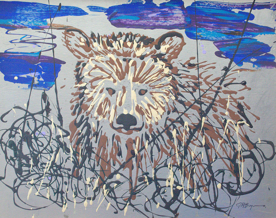 Bear Painting - The Kodiak by J R Seymour